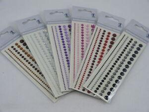 Abverkauf Rest Schmucksteine Sticker Bodüre Acryl Steine ver. Farben Klebesteine