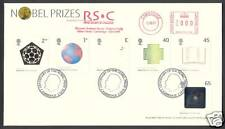 2001 NOBEL PRIZES SET OF 6 ON FDC WITH METER MARK