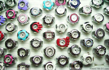 Wholesale Fashion 100Pcs Mixed Rotate Cover Watch Rings