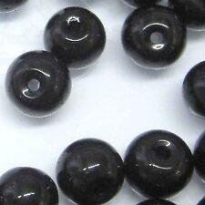 200 X 4 Mm Cristal De Vidrio Redonda granos-Negro-a3635