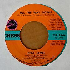 FUNK 45 - ETTA JAMES - ALL THE WAY DOWN b/w LAY BACK DADDY - CHESS LBL