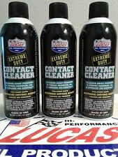 LUCAS EXTREME DUTY CONTACT CLEANER #10905 GUN AEROSOL SPRAY 3X11OZ. MADE IN USA