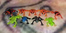 Safari Ltd. - Frog Figure PVC Toy Lot Set of 9 - Animal Model Replica