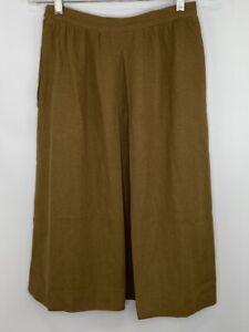 LES COPAINS Pleated Skirt w/Pockets, Angora Wool Blend, Size 42(II)