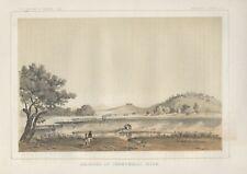 """1853 (1856) """"Crossing of Chowchilla River""""-original lithograph"""