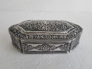 Antique Indian Silver Box Cutch (Kutch) Silver Work Asian Circa 1880