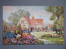R&L Postcard: Old Cottage Gardens, E L Hampshire, James Henderson 1920
