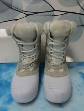 COLUMBIA Womens White Sierra Summette Waterproof Winter High Snow Boots size 9