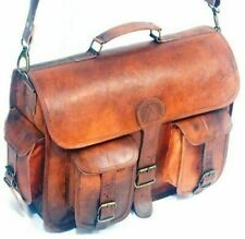 Men's Genuine Leather Vintage Laptop Messenger Handmade Briefcase Bag Satchel
