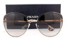 Brand New Prada Sunglasses 54SS QE3 0A7 Black Gold/Gradient Gray Women