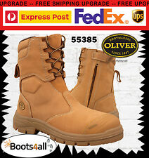 Oliver ATS 55285 Wheat Work BOOTS Zip Safety Steel Toe 200mm 10