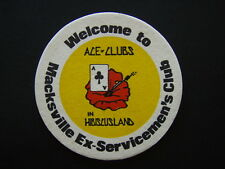 MACKSVILLE EX-SERVICEMEN'S CLUB ACE OF CLUBS IN HIBISCUSLAND COASTER