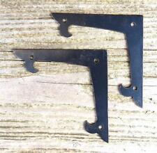 "2 Decor 4"" Flat Corner Plates Wrought Iron Door Frame Antique Furniture Bracket"