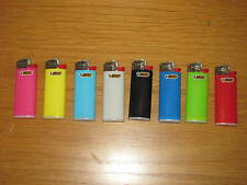 8 Stück BIC MINI Feuerzeug Reibrad J25 neutrale Farben sortiert