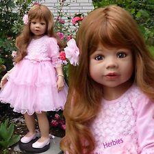 "Masterpiece Dolls Coco by Monika Levenig, 39""  Strawberry Blonde with Blue Eyes"