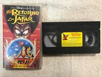 EL RETORNO DE JAFAR LA AVENTURA CONTINUA WALT DISNEY PICTURES VHS THE RETURN OF