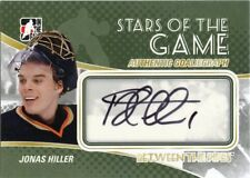 10/11 BETWEEN THE PIPES GOALIEGRAPH AUTOGRAPH AUTO JONAS HILLER DUCKS *43716