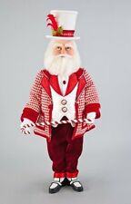 "Katherine's Collection Christmas Spectacular Santa Doll 24"" New"