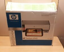 New open box HP Deskjet 6940 Color Inkjet Printer with ink and cords
