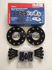 2 x 10 mm h&r Black Alloy Wheel Spacers Black Bolts Locks-BMW f10 f11 f12 f13