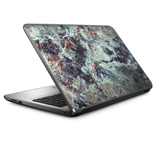 """Universal Laptop Skins wrap for 15"""" - Rough Marble Grey Red Blue Granite"""