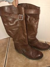 Women's Dolce Vita Brown Tall Riding Boots 8.5 Distressed