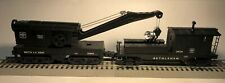 Lionel O Gauge Bethlehem Steel Bucyrus Crane and Searchlight Work Caboose