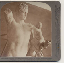 Hermes o Praxiteles most perfect statue Olympia Greece Underwood Stereoview 1907