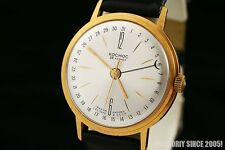 Poljot De Luxe Automatic GOLD PLATED Luxury watch KOSMOS Polyot cal. 2416 1970y