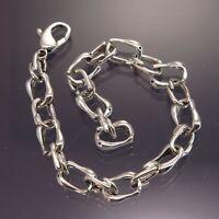 """Fine 6-1/2"""" Fancy Fish / Dolphin Link Chain Sterling Silver Bracelet 9.4g"""