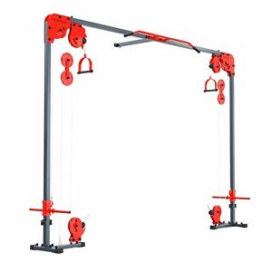 Cable Crossover Machine Equipment Pull Up Multi Station Cage Home Gym UK