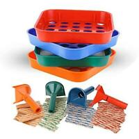 Coin Counters Tubes & Coin Sorters Tray – 4 Color-Coded Coin Sorting Tray and Co