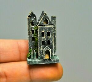 Dollhouse Miniature Halloween Haunted House Mansion Mini  Scary Decor