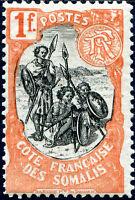 COLONIES CÔTE DES SOMALIS N° 64 NEUF**
