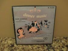 "Ralph Ginsburgh ""Dinner Music"" B-278 Set of Four 45 RPM Records w/ 4 Adapters"