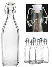 Set 6 Pezzi Bottiglie Bottigline Vetro Trasparente Con Tappo Capacità 1Lt idea