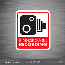 SKU119 - In Vehicle Camera Recording Car Sign Sticker - CCTV - Go Pro - Dashcam