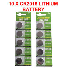 10 X Genuine CR2016 3V Lithium Batteries Button/Coin Cells Batteries LONG EXPIRY