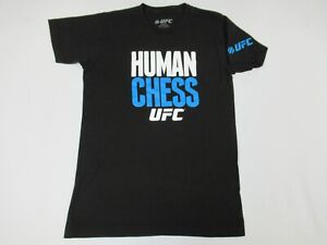 UFC ULTIMATE FIGHTING MMA HUMAN CHESS - BLACK SMALL T-SHIRT D733
