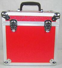 "2 X NEO Aluminum Red Storage for 50 Vinyl LP Records 12"" DJ carry Case"
