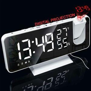 LED Digital Alarm Clock HD Red Projection Time Manual Brightness Adjustment