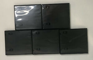 5 Standard Black Nintendo DS Empty Replacement Game Cases Boxes With Slot