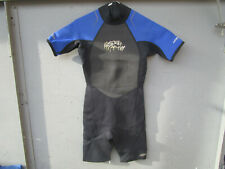Hyper-Flex Wetsuit Shorty Youth Size 14 - VGUC Black & blue SHORT sleeve surfing