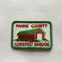 Parke County Covered Bridge Embroidered Patch Souvenir Collectible Indiana