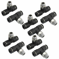 "10 Pcs JPB6-01 1/8"" PT Male Thread 6mm One Touch Push In T Joint Quick Fittings"