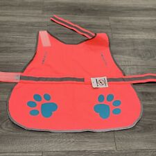 SafetyPup Dog Reflective Vest Hi-Vis Neon Pink LARGE Warning Clothing 61-100 lbs