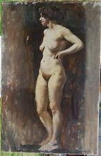 L.A. DEMANGEON 1909/1979  Belle étude de nu féminin, 1935, signée