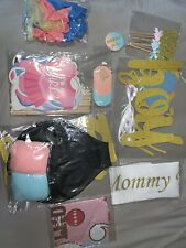 NIP Gender Reveal Party Decorations Kit 92 Pcs / Baby Gender Reveal Supplies