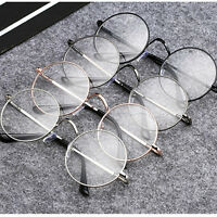 Fashion Retro Round Frame Men Women Vintage Clear Lens Glasses Eyeglasses Unisex