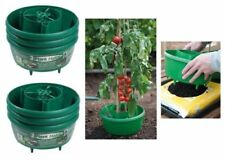 6 PACK ALL IN 1 GREEN GARDEN PLANT HALOS CROP SUPPORT WATERING TUBS FOR GROW BAG